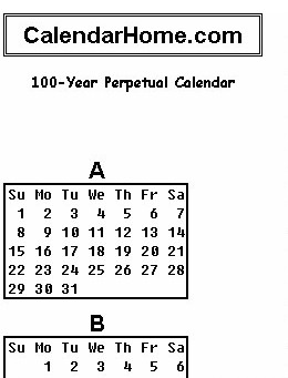 photograph regarding Perpetual Calendar Chart referred to as Scroll: Up Down