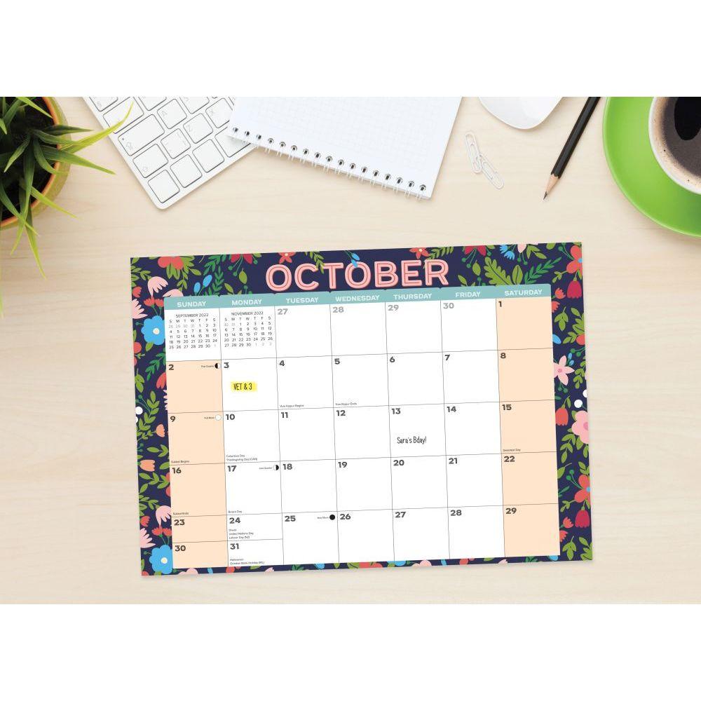 Bears Black Wall Calendar