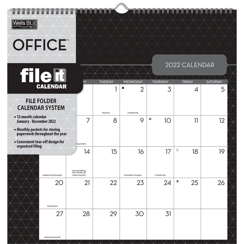 Chocolate Easel Desk Calendar
