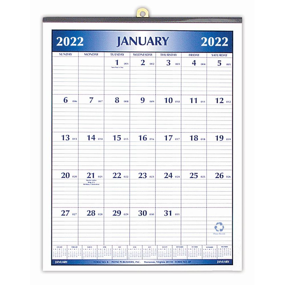 Botanical Inspiratoin 2019 Wall Calendar